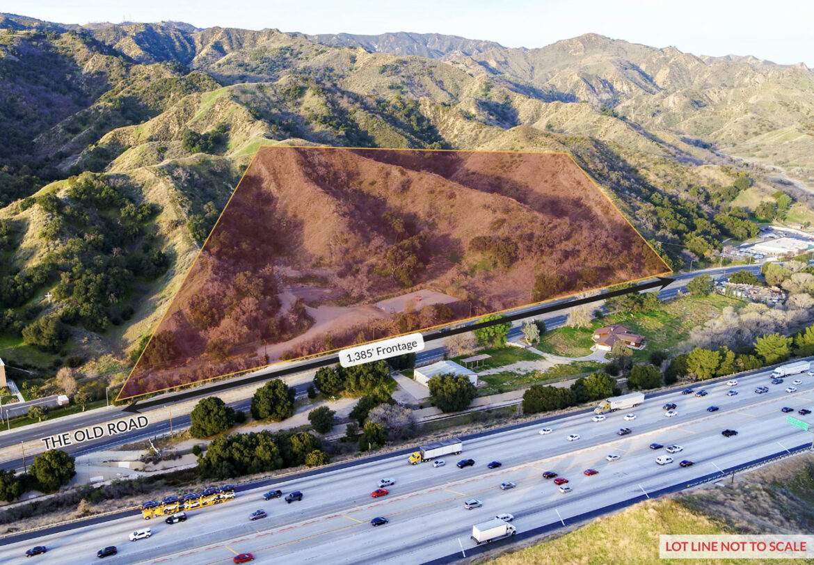 M1 Zoned development site at 23925 The Old Road in Newhall, California
